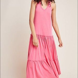 Anthropologie Sundry Tiered Sleeveless Dress Small